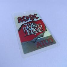 AC DC The Razors Edge Tour 1990s Original Unused ATCO Record Company Pass