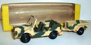 Solido 1/43 Scale - 213 Army Jeep with Trailer