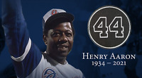 Hank Aaron Patch Atlanta Braves 44 Memorial Iron On Patch Baseball Jersey Henry