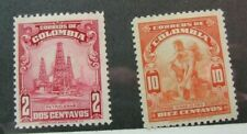 Colombia Stamp Scott# 437-439 Oil & Gold 1935 MH W3