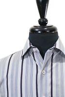 Robert Graham Grey Striped Sport Shirt Small 8714