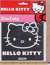 Hello Kitty White Stick Onz Vinyl Decal Car or Truck Window Sticker Chroma 3921