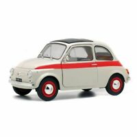 Fiat 500 L Nuova Sport (1960) in White and Red (1:18 scale by Solido S1801401)