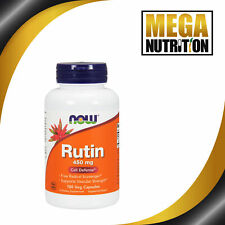 NOW Foods Rutin 450mg 100 Veggie Caps | Supplement Bioflavanoid Source Vitamin C