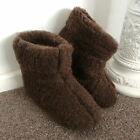 Merino's Brown Sheep Wool Boots Slippers Sheepskin Suede Sole Womens Ladies Mens
