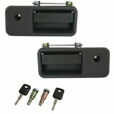 Front Outside Exterior Door Handle Black with Locks Set Kit for Volvo VNL Truck(Fits: 2006 Volvo)