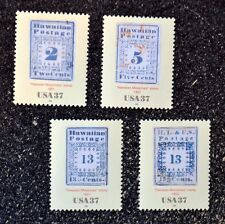 USA2002 #3694a-d 37c The Hawaiian Missionary Stamps - Set of 4 Singles - Mint NH