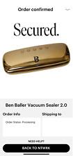 Ben Baller Vacuum Sealer 2.0 Gold **ORDER CONFIRMED** (FREE SHIPPING)