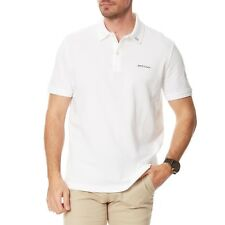 Lacoste Men Slim Fit Stretch Petit Piqué 100% Croco Polo Shirt -White/Black-(XL)