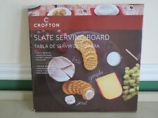 """New 14"""" Round Slate Stone Serving Cutting Charcuterie Board Cheese Bread Platter"""