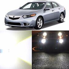 Alla Lighting Fog Light H11 Super Bright 6000K White LED Bulbs for Acura TSX ZDX
