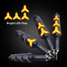 4X Sequential Motorcycle LED Turn Signals Flowing Water Blinker Lights Iidicator