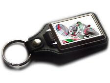 MOTO GP COLIN EDWARDS Honda Koolart Quality Chrome And Leather Keyring!