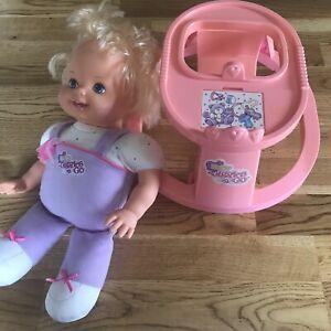 Tyco Baby Giggles 'n Go Doll Walker Vintage 1992 Pink