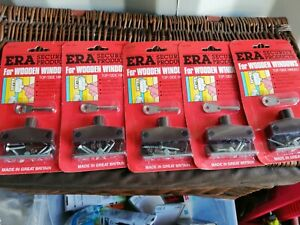 ERA BRITISH MADE WOODEN WINDOW LOCKS X5