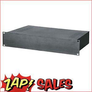 """Altronics 2U Black Aluminium Front Panel 19"""" Rack Case H5032"""