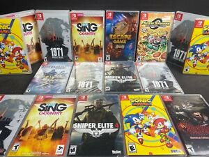 NINTENDO SWITCH GAMES HUGE LOT NEW & USED YOU PICK EM CLEANED & TESTED FUN 4 ALL