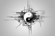 Framed Print - Abstract Yin Yang (Picture Poster Oriental Japanese Chinese Art)