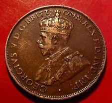 Weak Australia DIE ERROR    1928  Australia  Penny George V 6  Pearled Crown,