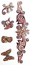 ABORIGINAL ARMBAND  GECKO DOLPHIN TEMPORARY TATTOO 145mm X 70mm  AB502