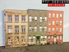 HO Scale Apartment #3 Combo Building Flat / Front 3D Background