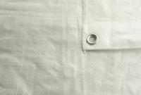 4x 5M Blanco 100G / Sqm Impermeable puesto de Mercado Lona Tapa Constructores