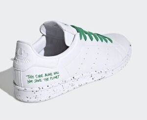 New In Box Green and White Adidas Stan Smith Vegan Sneakers Men's Size 9 FU9609