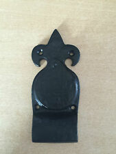 Black Ornate Cast Iron Door Cylinder Pull