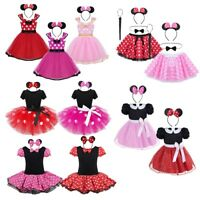 Kid Girls Polka Dots Princess Tutu Dress Party Christmas Cosplay Fancy Costume