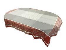 Jacquard  Ruco-guard Coated Tablecloth Marius Rust Geometric  63 x 98.5 France