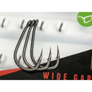 KORDA- KAMAKURA - WIDE GAPE HOOKS - BARBED or BARBLESS *ALL SIZES* -CARP FISHING