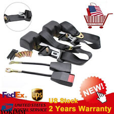 2X Universal 3 Point Car Safety Travel Seat Belt Lap Adjustable Retractable Auto