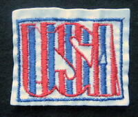 """USA EMBROIDERED SEW ON ONLY PATCH ADVERTISING UNIFORM HAT SHIRT 3 1/2"""" x 2 7/8"""""""