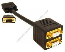 2way/Port SVGA/VGA Splitter/Y/T/Duplicator Monitor/TV Cable/Cord,1Male 2Female{K