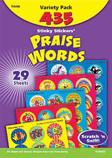 435 Praise Words Scratch and Sniff Stinky Reward Stickers TREND Variety Pack n