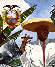 Ecuador v. Ludwig Hohlwein Kunsdruck 1937 Reklame Südamerika Werbung Auswanderer