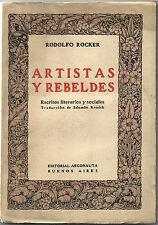Artistas y Rebeldes:Escritos literarios y sociales/Argonauta, Buenos Aires, 1922