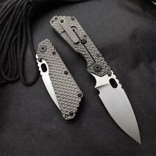 NEW CNC D2 Blade Titanium Handle SMF SNG Style Pocket Folding Knife EDC ST08