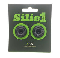 Silic1 Aluminum Road Bike Handlebar End Plugs, Black
