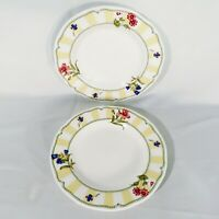 "Two NORITAKE Homecraft ""Summer Estate"" Pattern 9212 Bread  Dessert Plates 8.5"""