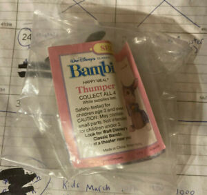 1988 Bambi Thumper Mcdonald's Toy
