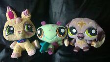 LPS Littlest Pet Shop VIP Plush ~ Lot of 3 ~ Bunny Dragonfly Dog Stuffed Animals