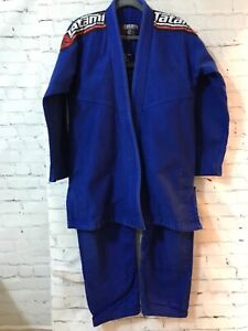 Tatami Estilo Mens Blue Solid Technical Jiu Jitsu Kimonos Gi And Pants Set Sz M