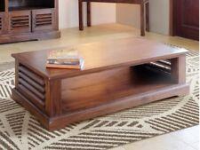 Clearance Bali Solid Teak Coffee Table With Low Shelf Tt040