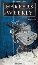 1915 HARPER'S WEEKLY WW1 ERA 24 COLOR COVERS ILLUSTRATED ROOSEVELT CARTOONS GIFT
