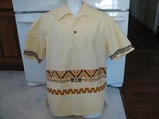 Waltah Clarke's Tiki Gods Hawaiian shirt XL retro vintage exotica 1960s era
