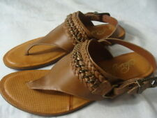 Naughtymonkey Thong Leather Strappy  T Strap Sandals Size 6.5