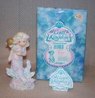 Vintage Coral Kingdom SABRINA Mermaid Figurine with Turtle Enesco #533122