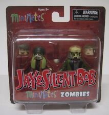 Minimates JAY & SILENT BOB ZOMBIES w/ 4 Heads Diamond Select Box Set 2015 NEW