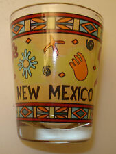 New Mexico Local Motif Shot Glass Shooter Travel Memorabilia Colorful